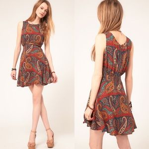 {Free People} Paisley Skater Dress
